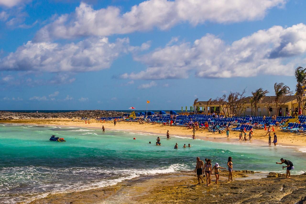 巴哈马大马镫礁(Great Stirrup Cay),海岛风景_图1-2