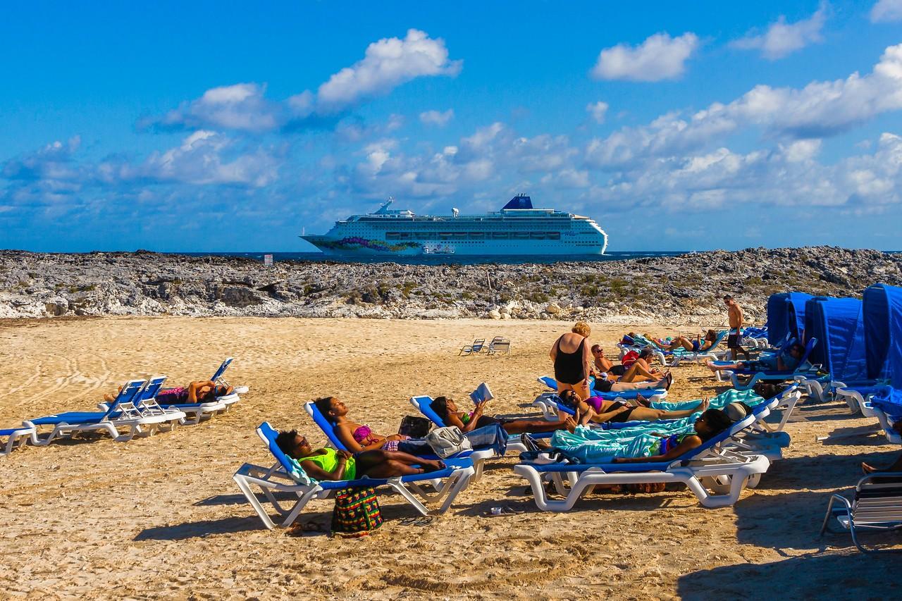 巴哈马大马镫礁(Great Stirrup Cay),海岛风景_图1-5