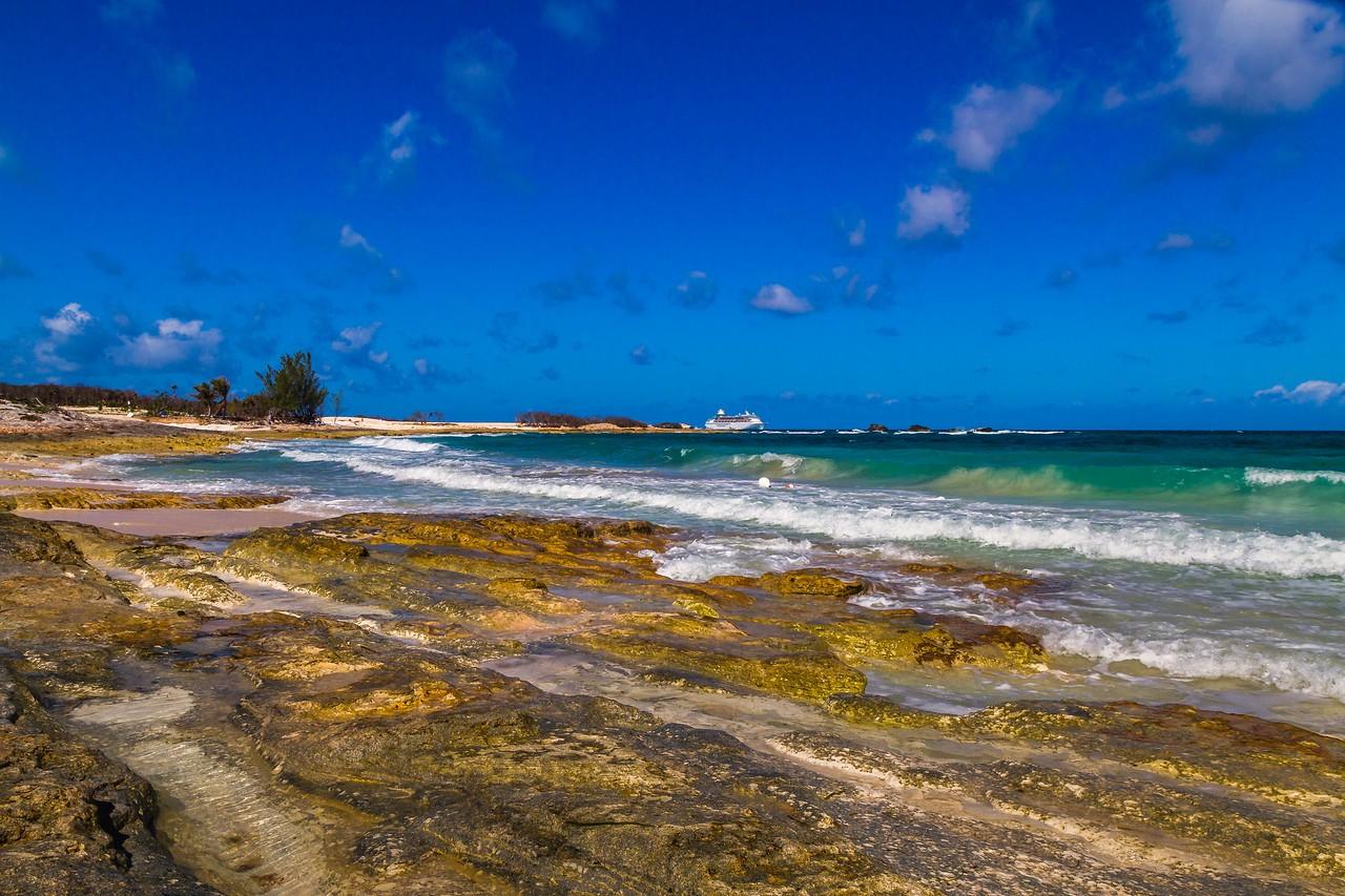 巴哈马大马镫礁(Great Stirrup Cay),海岛风景_图1-13