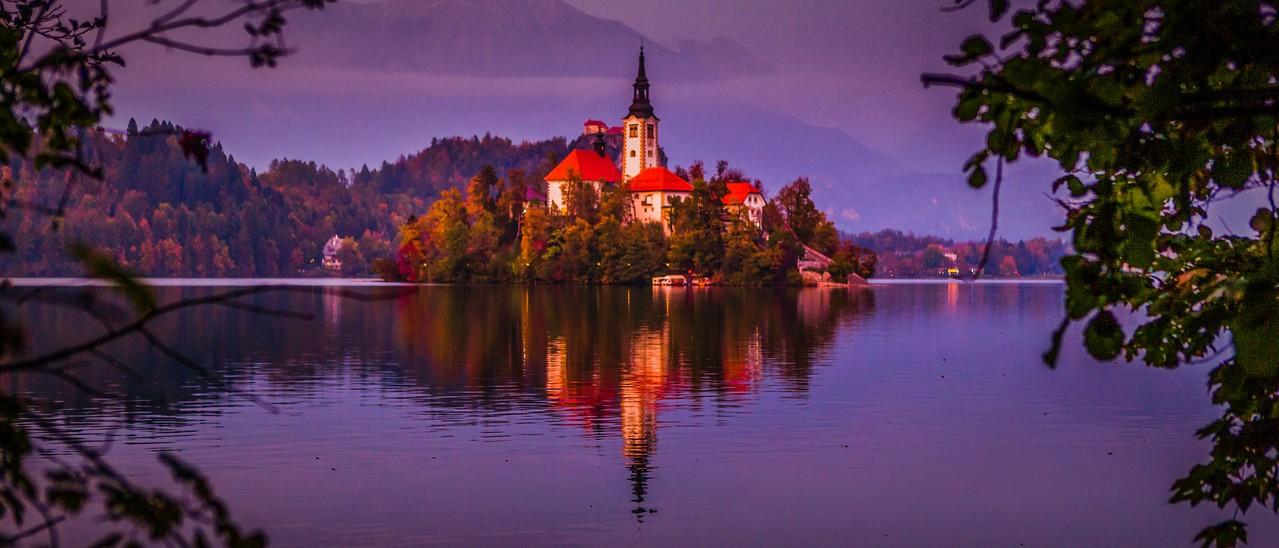 斯洛文尼亚布莱德湖(Lake Bled),美丽湖景_图1-11