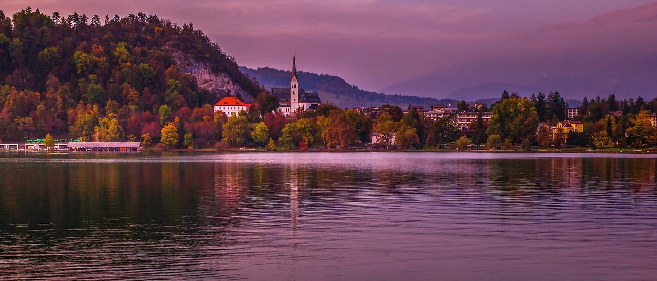 斯洛文尼亚布莱德湖(Lake Bled),美丽湖景_图1-1