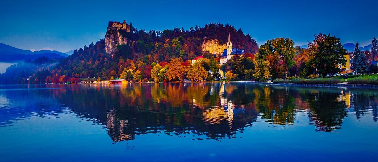 斯洛文尼亚布莱德湖(Lake Bled),美丽湖景_图1-13