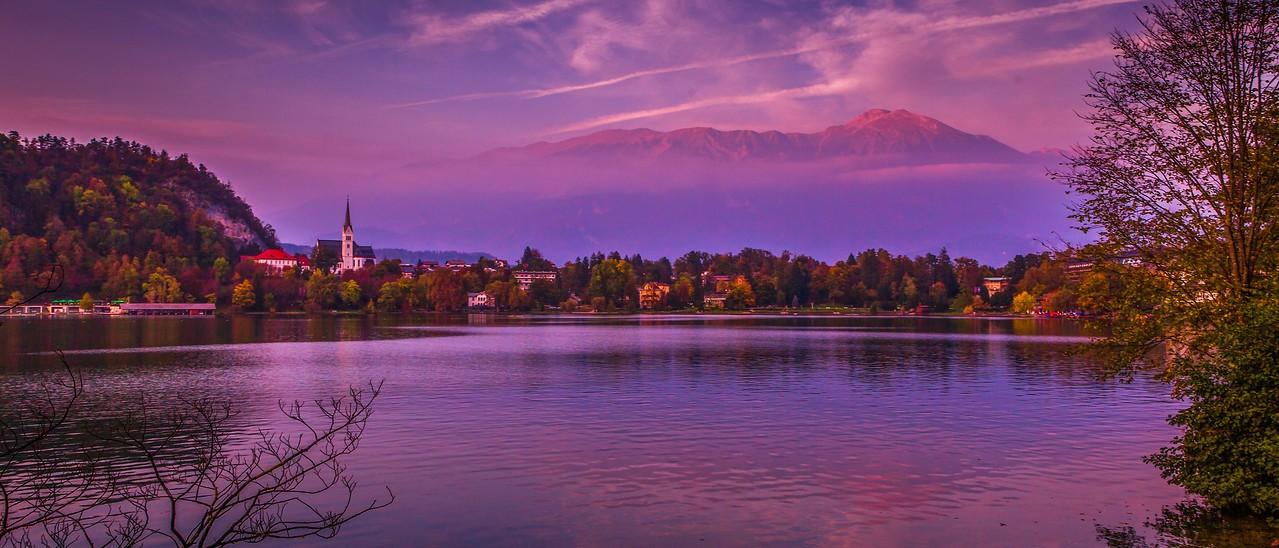 斯洛文尼亚布莱德湖(Lake Bled),美丽湖景_图1-4