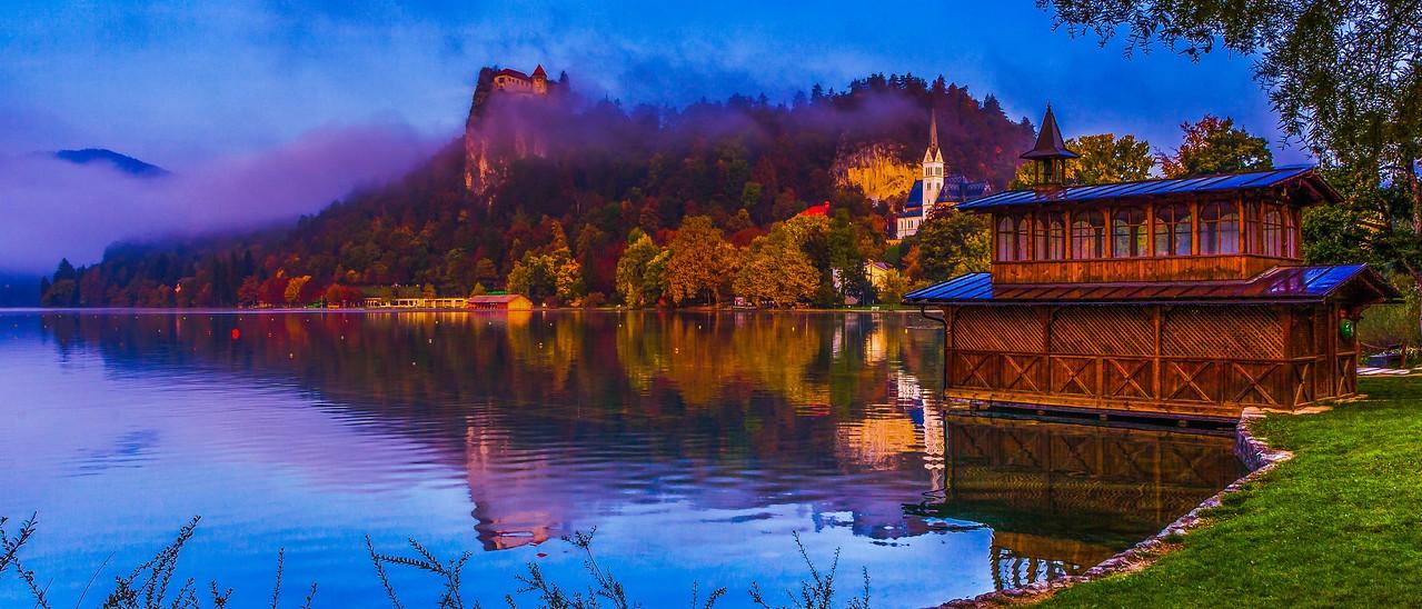 斯洛文尼亚布莱德湖(Lake Bled),美丽湖景_图1-9
