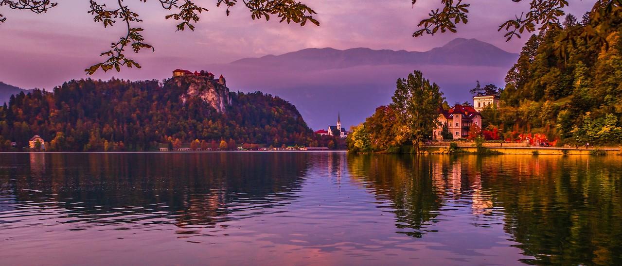 斯洛文尼亚布莱德湖(Lake Bled),美丽湖景_图1-15
