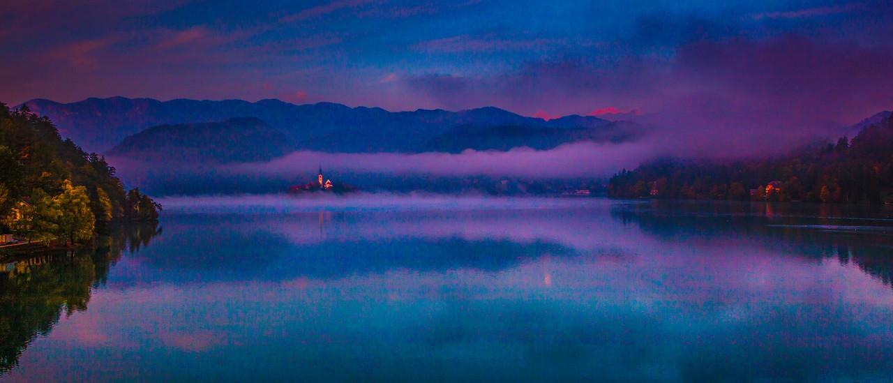 斯洛文尼亚布莱德湖(Lake Bled),美丽湖景_图1-10