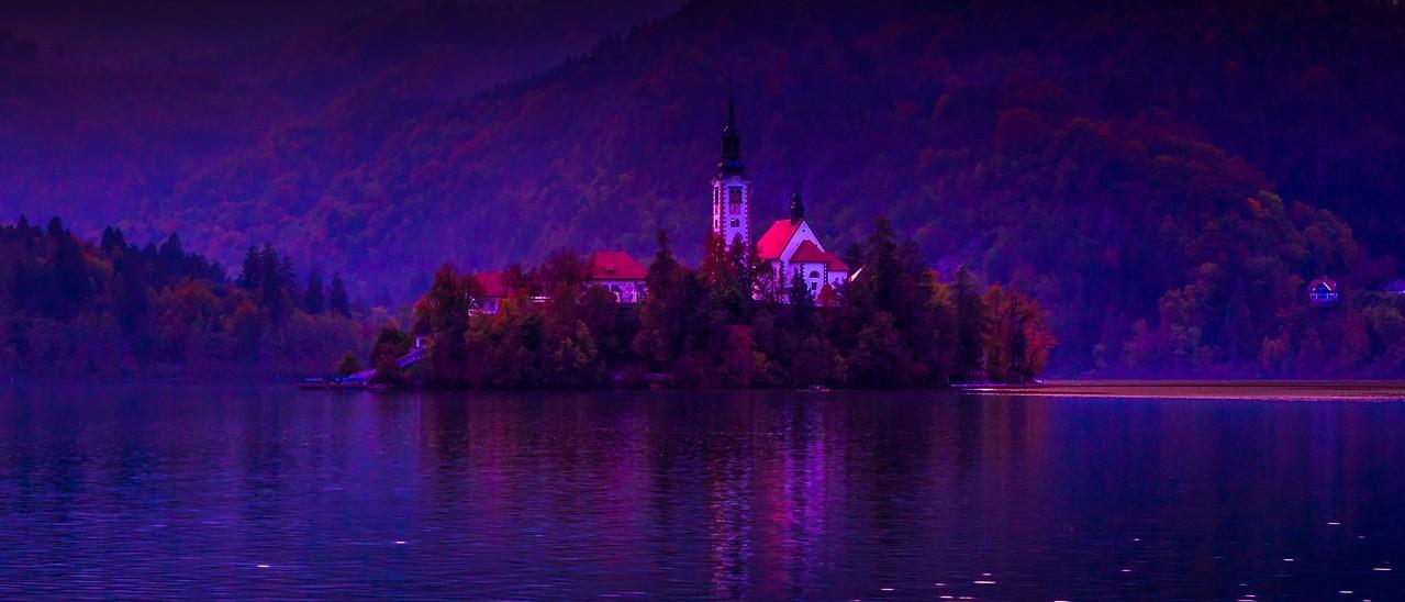 斯洛文尼亚布莱德湖(Lake Bled),美丽湖景_图1-12