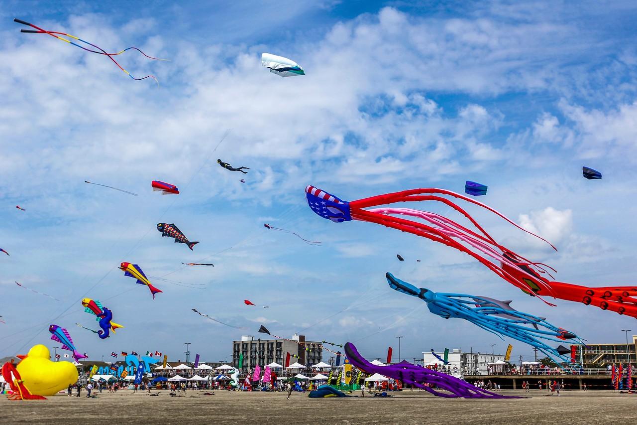 新泽西州Wildwood Beach,围观国际风筝节_图1-11