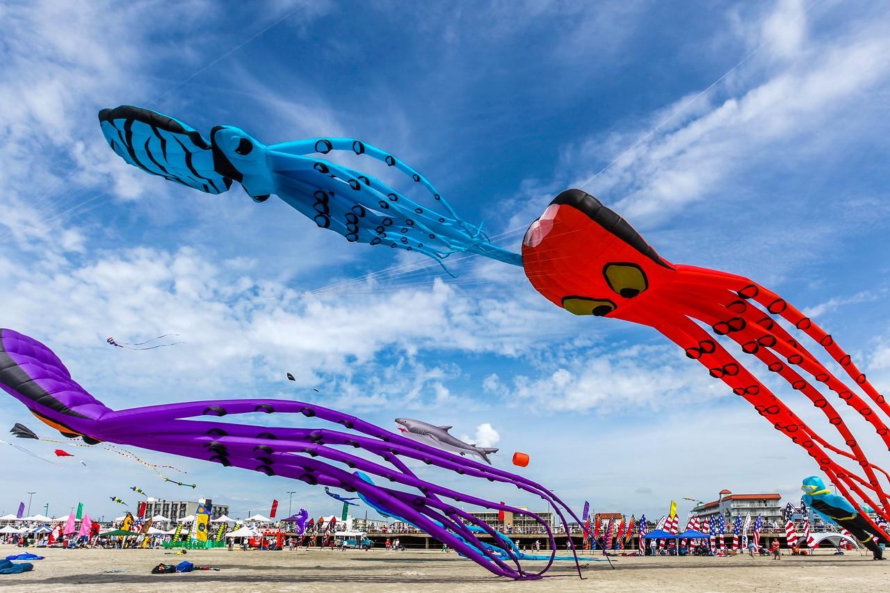 新泽西州Wildwood Beach,围观国际风筝节_图1-7
