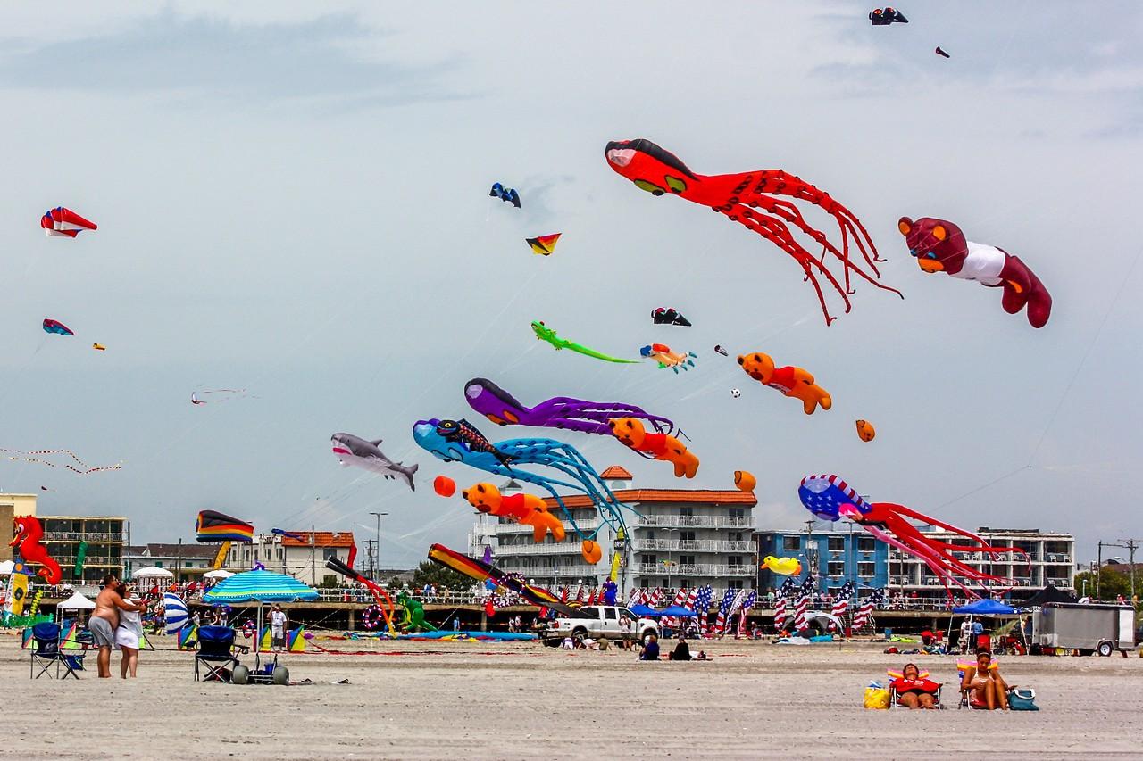 新泽西州Wildwood Beach,围观国际风筝节_图1-4