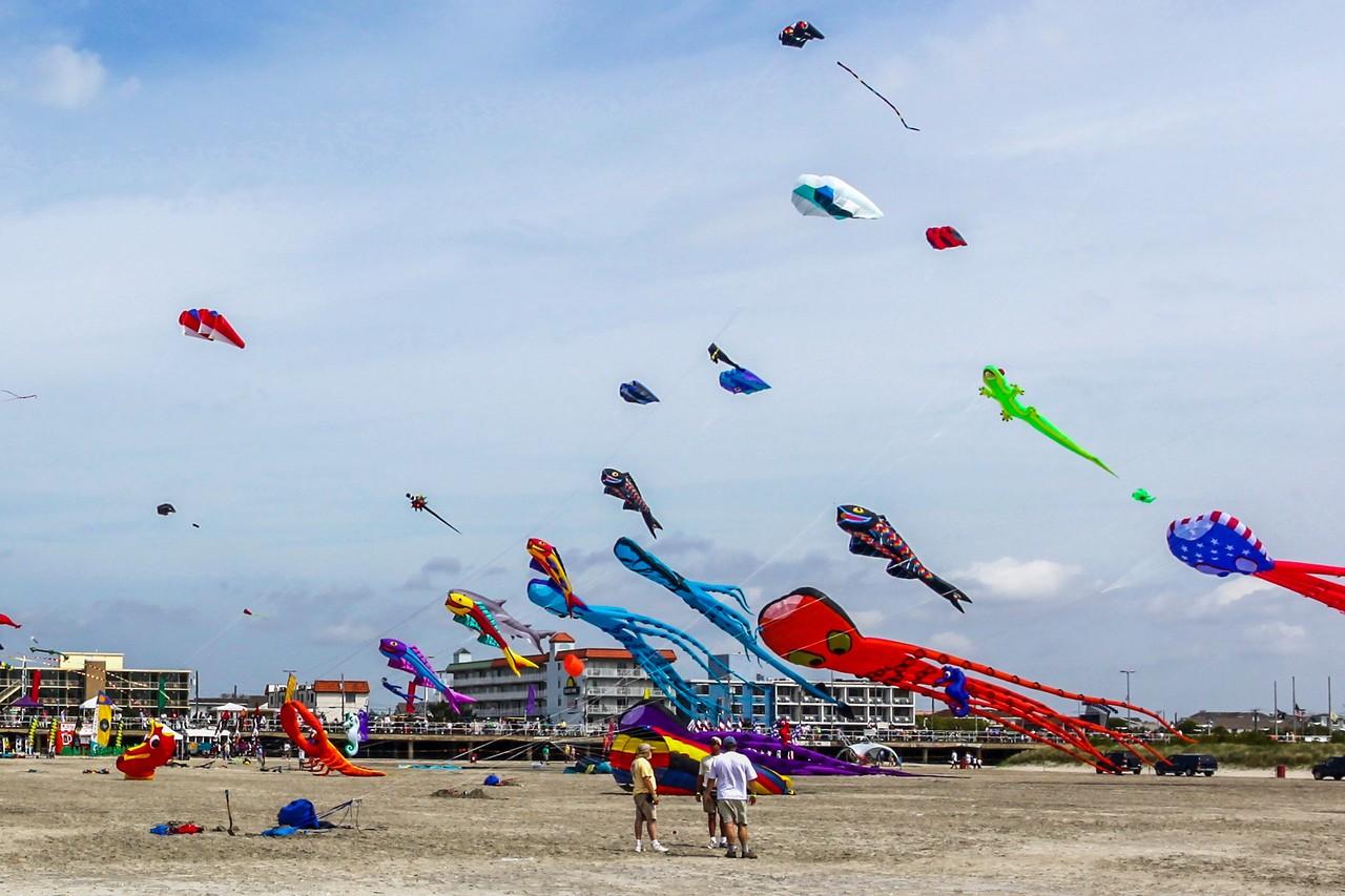 新泽西州Wildwood Beach,围观国际风筝节_图1-6