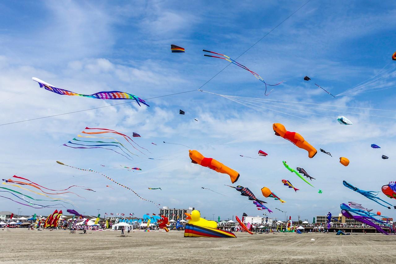 新泽西州Wildwood Beach,围观国际风筝节_图1-3