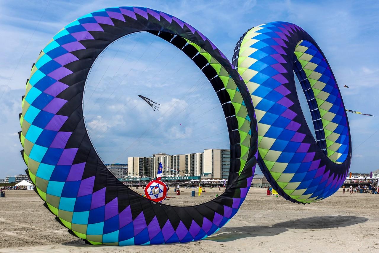 新泽西州Wildwood Beach,围观国际风筝节_图1-5