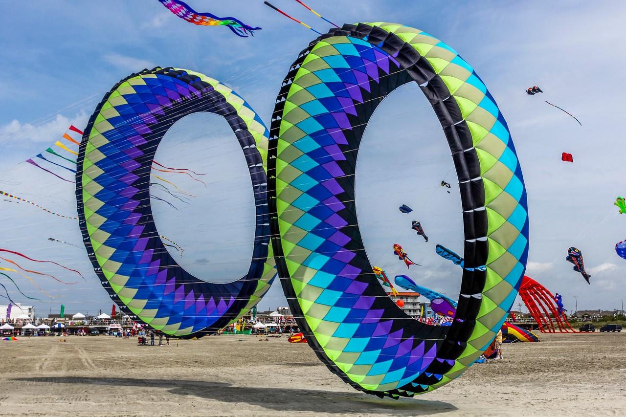 新泽西州Wildwood Beach,围观国际风筝节_图1-1