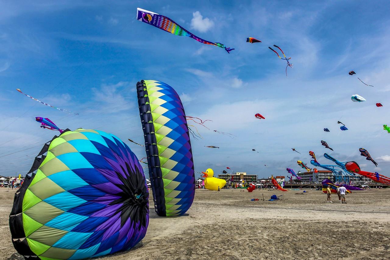 新泽西州Wildwood Beach,围观国际风筝节_图1-2