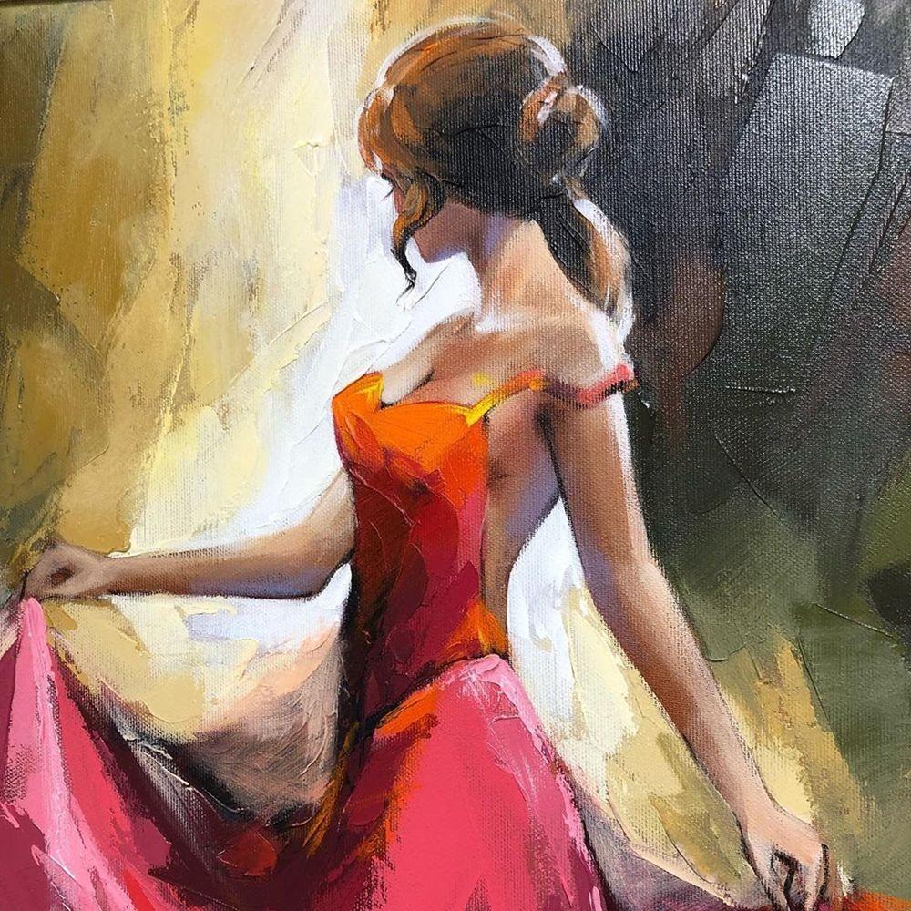 画家阿纳托利.梅特兰笔下的弗拉门戈舞者_图1-12