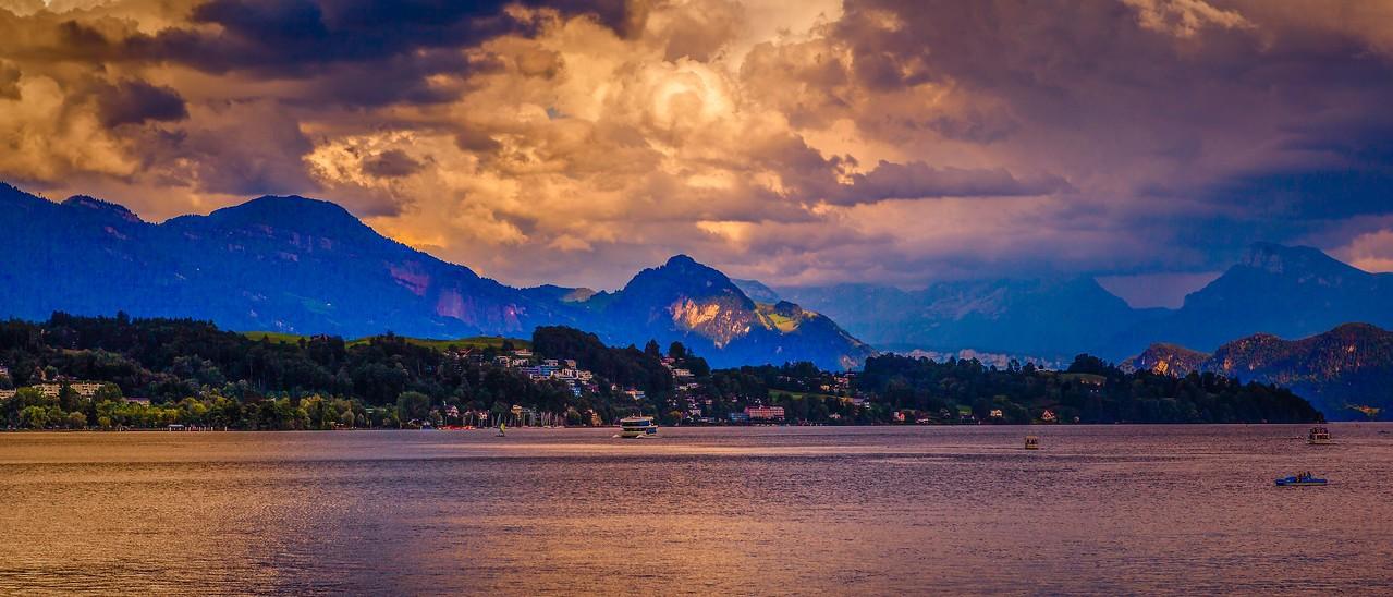 瑞士卢塞恩(Lucerne),湖边山景_图1-11
