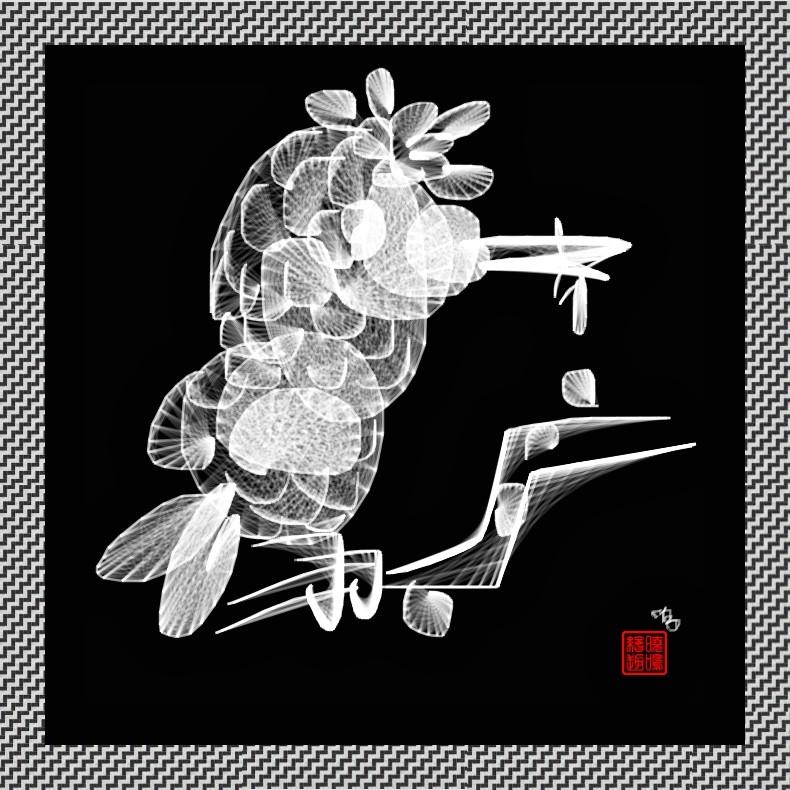【写意花鸟】鸟蚊哈_图1-4