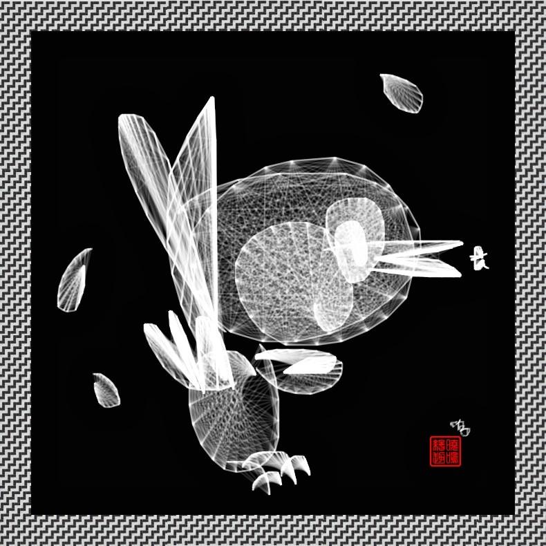 【写意花鸟】鸟蚊哈_图1-3