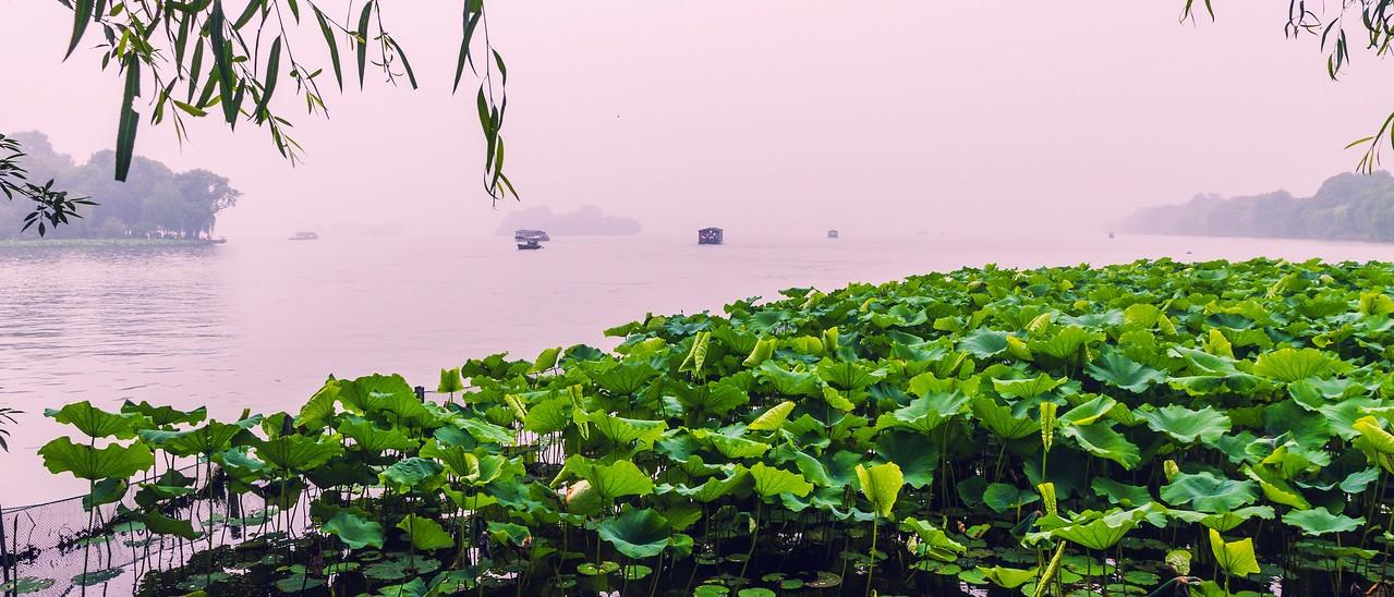 杭州西湖,秀丽湖色_图1-3