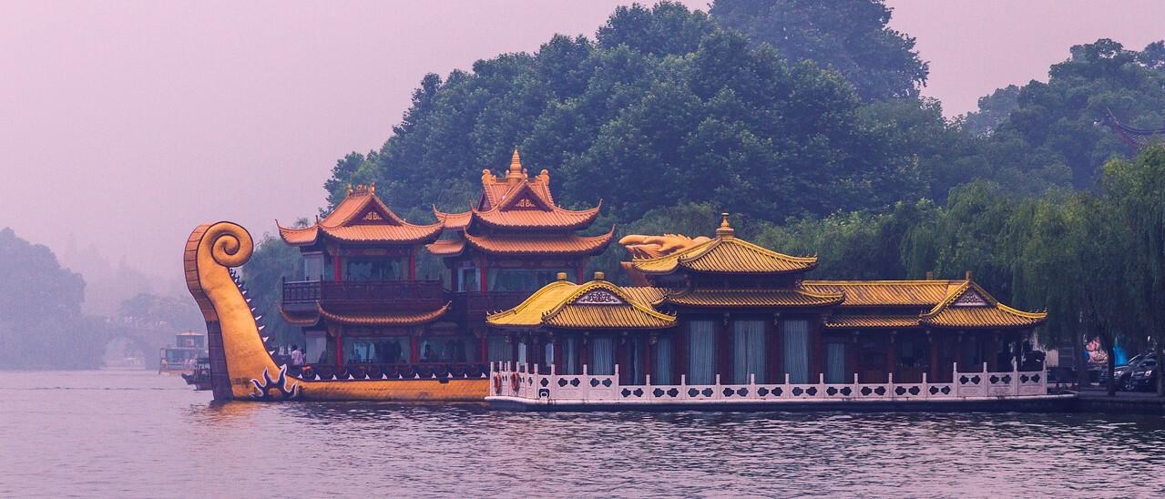 杭州西湖,秀丽湖色_图1-2