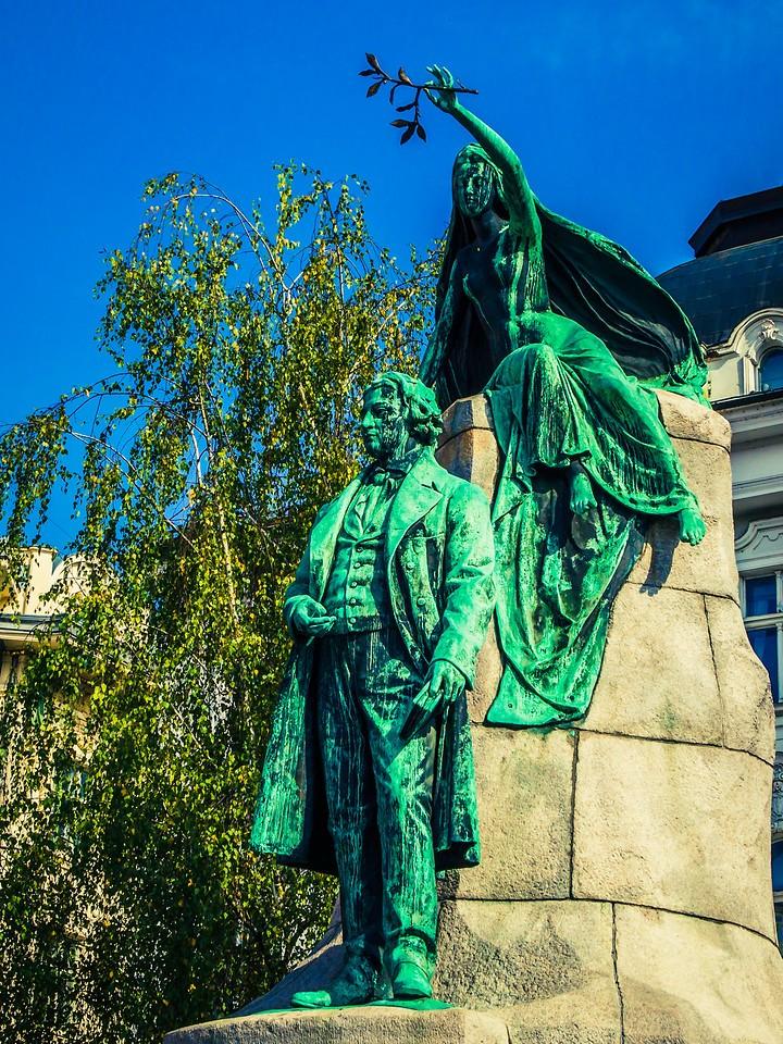 斯洛文尼亚首都卢布尔雅那(Ljubljana),雕塑景观_图1-6