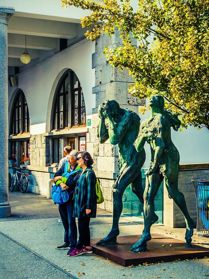斯洛文尼亚首都卢布尔雅那(Ljubljana),雕塑景观_图1-19