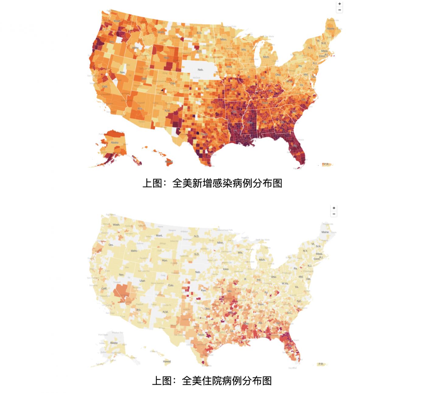 美国东南部几个州成为疫情高风险区_图1-1