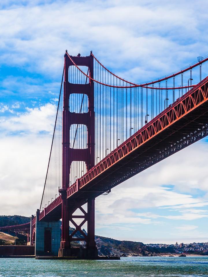 旧金山金门大桥,穿云而过_图1-3