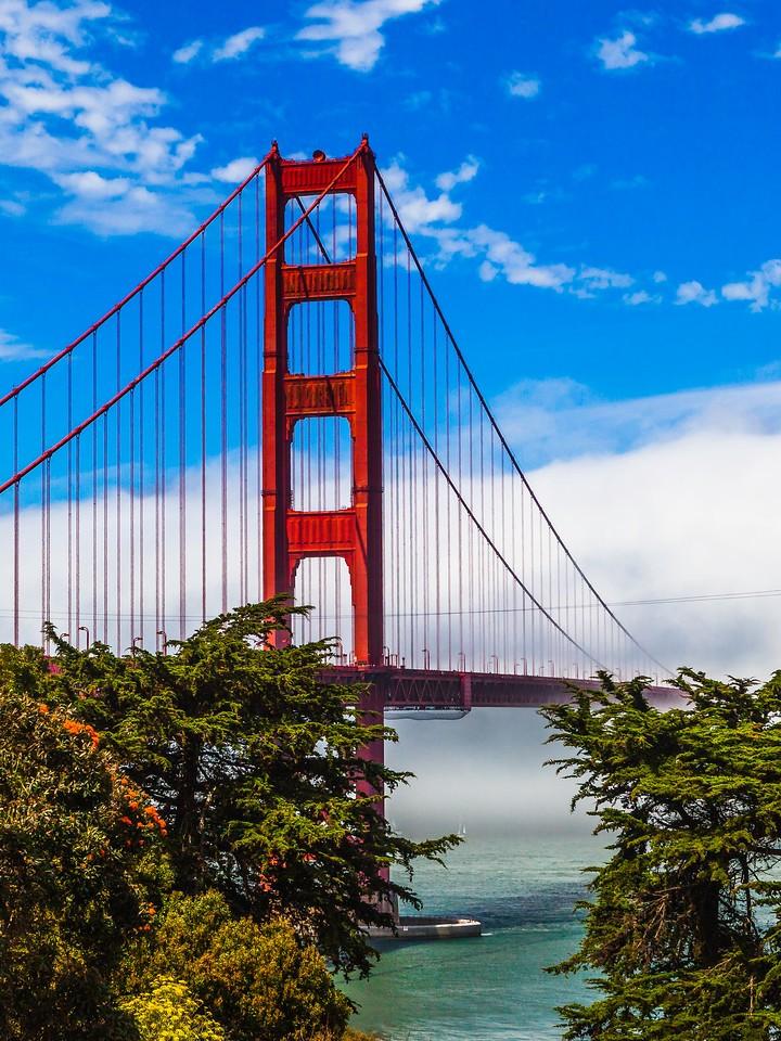 旧金山金门大桥,穿云而过_图1-8