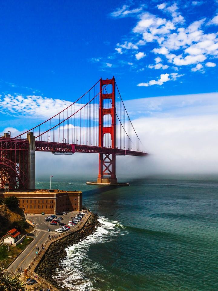 旧金山金门大桥,穿云而过_图1-6