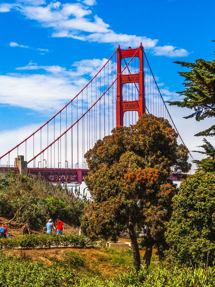 旧金山金门大桥,穿云而过_图1-5