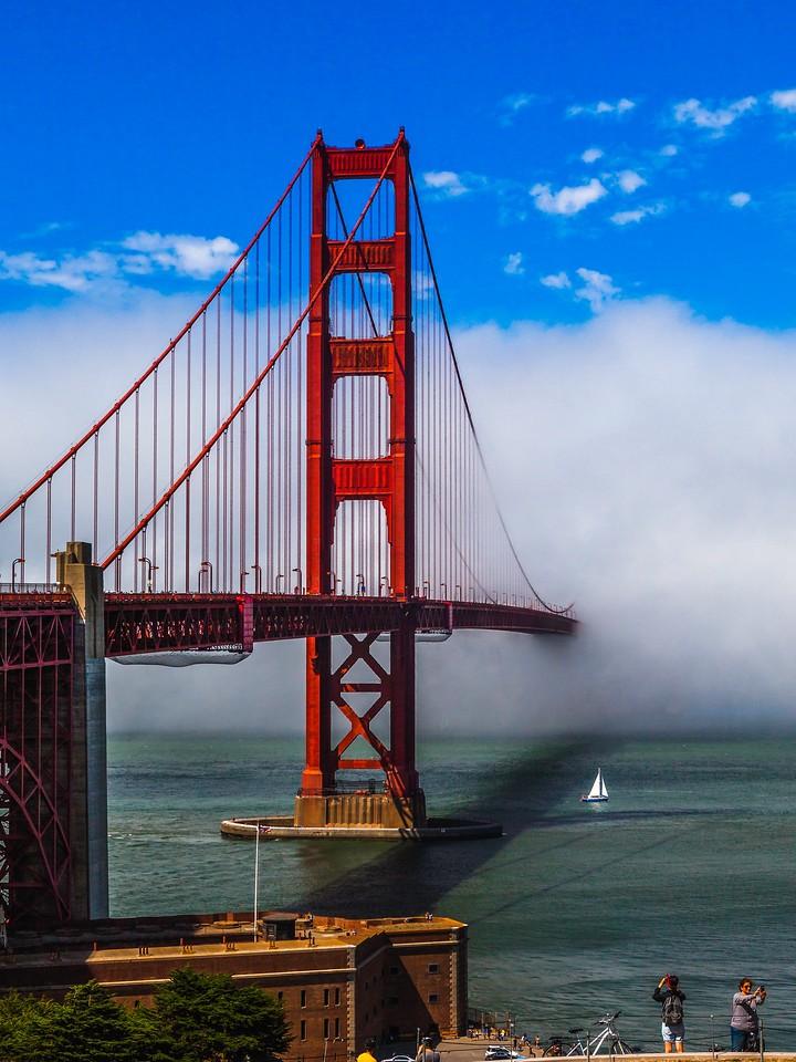 旧金山金门大桥,穿云而过_图1-4