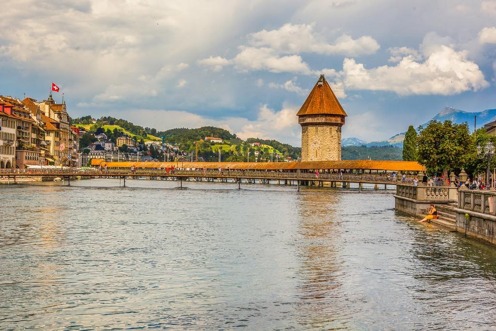 瑞士卢塞恩(Lucerne),湖边景色_图1-9