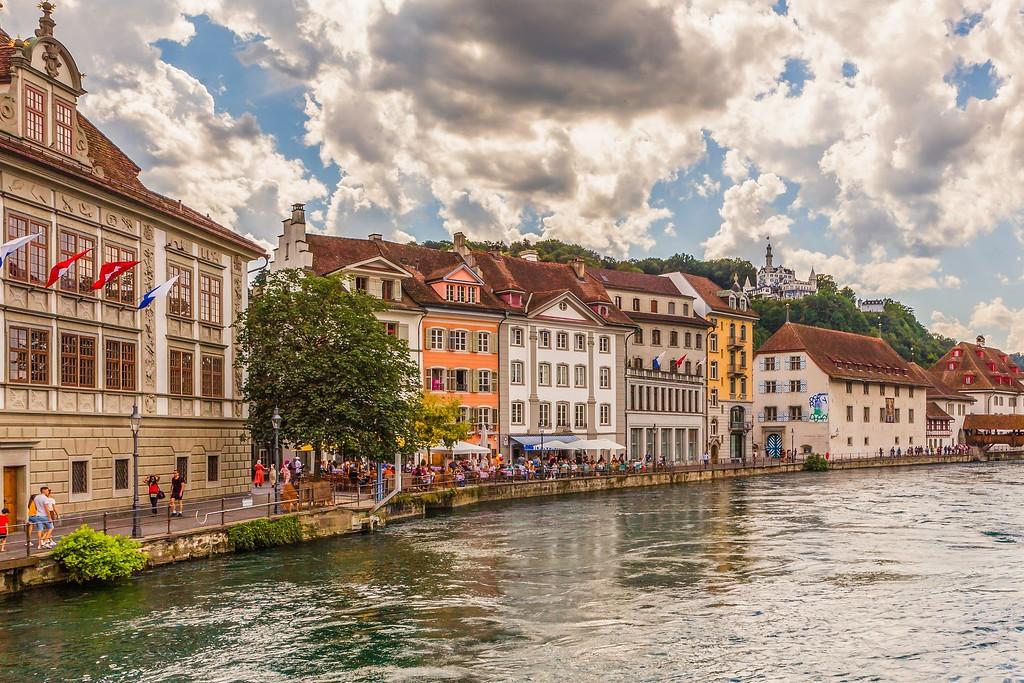 瑞士卢塞恩(Lucerne),湖边景色_图1-17