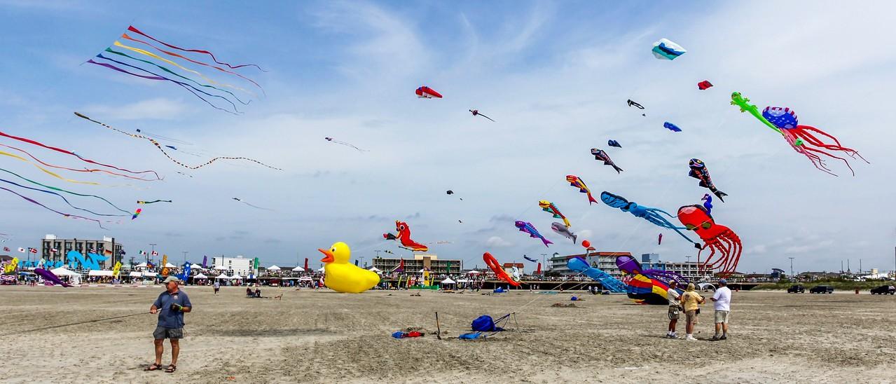 新泽西州Wildwood Beach,风筝荟萃_图1-7