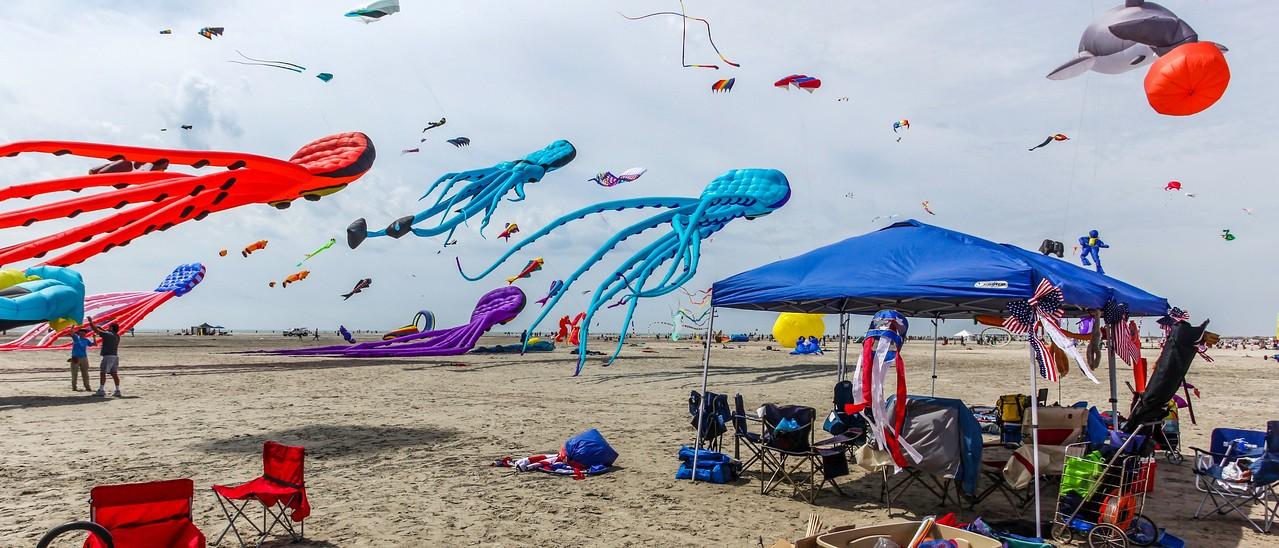 新泽西州Wildwood Beach,风筝荟萃_图1-3