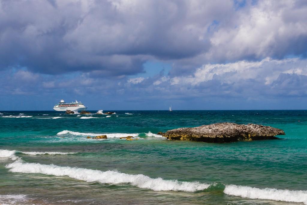 巴哈马大马镫礁(Great Stirrup Cay),海边美景_图1-12