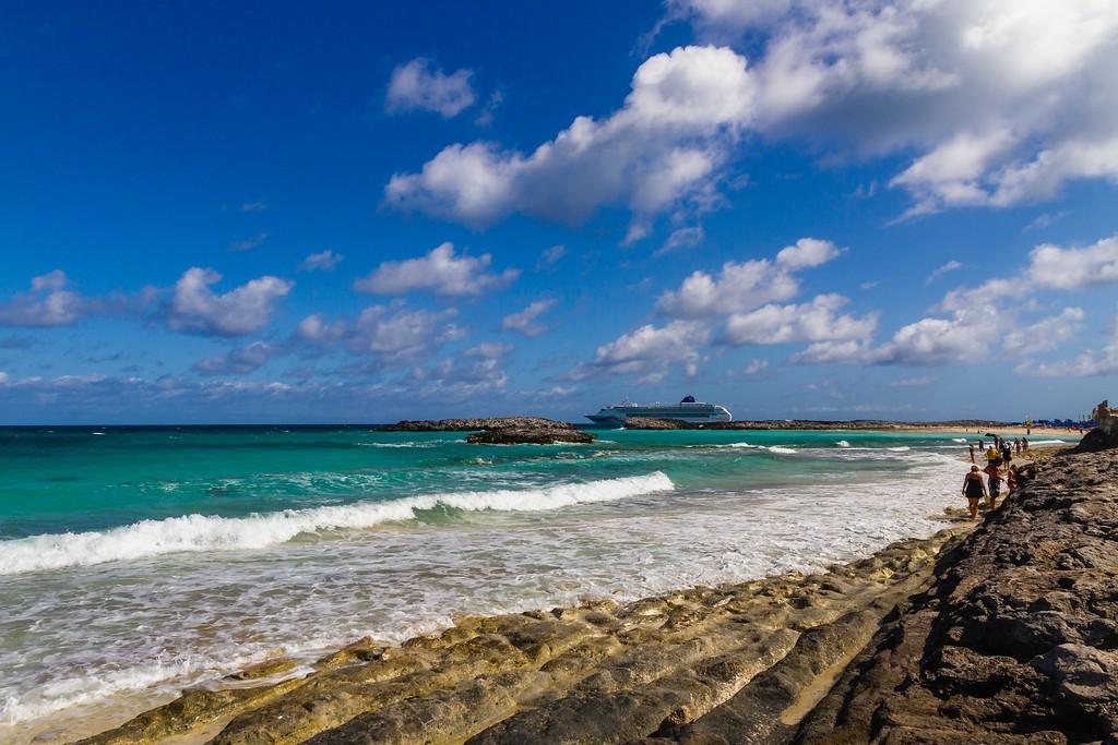 巴哈马大马镫礁(Great Stirrup Cay),海边美景_图1-15