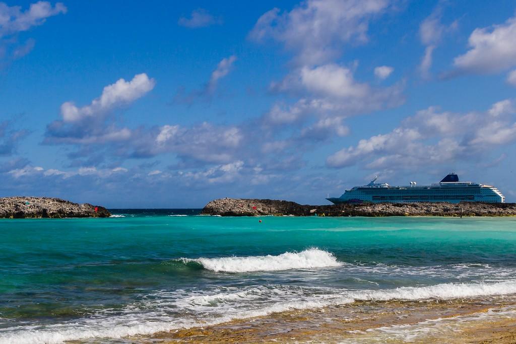 巴哈马大马镫礁(Great Stirrup Cay),海边美景_图1-14