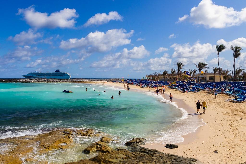 巴哈马大马镫礁(Great Stirrup Cay),海边美景_图1-1