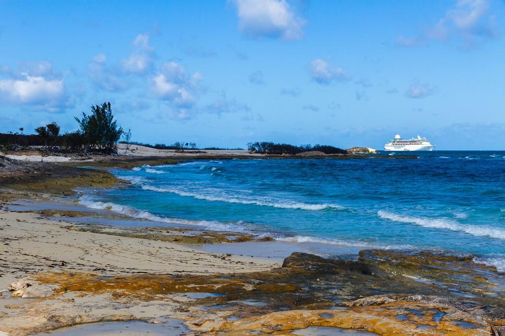 巴哈马大马镫礁(Great Stirrup Cay),海边美景_图1-3