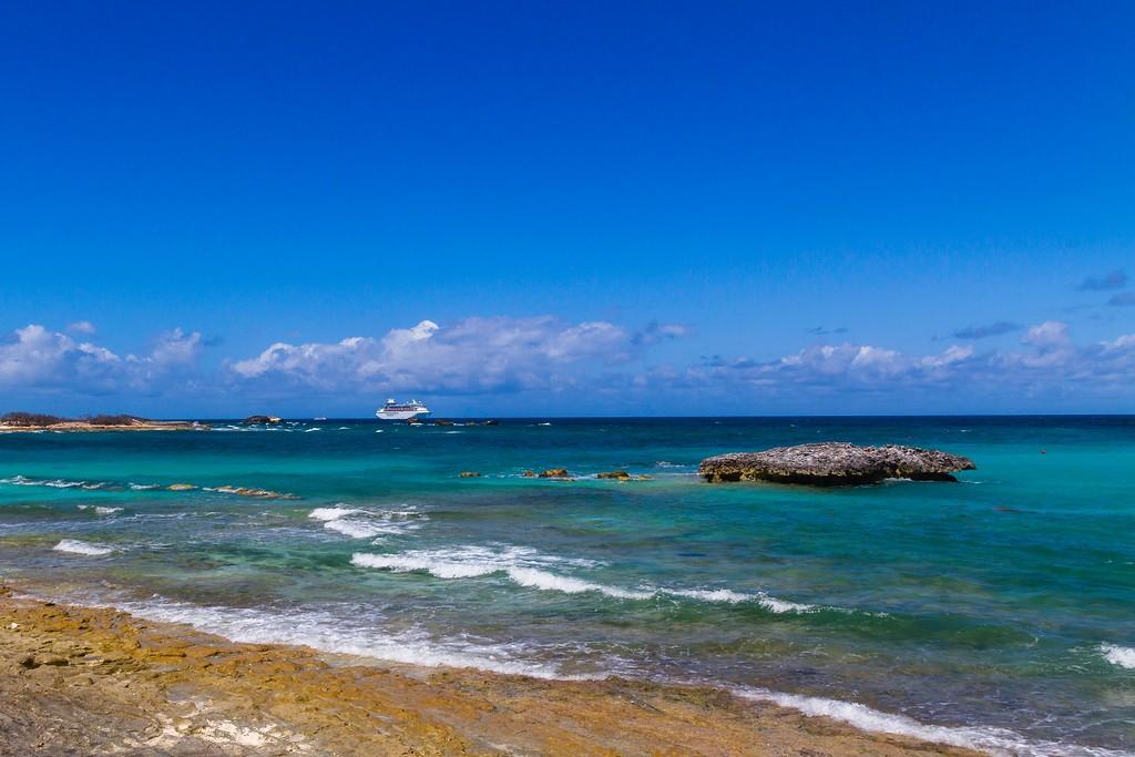 巴哈马大马镫礁(Great Stirrup Cay),海边美景_图1-10