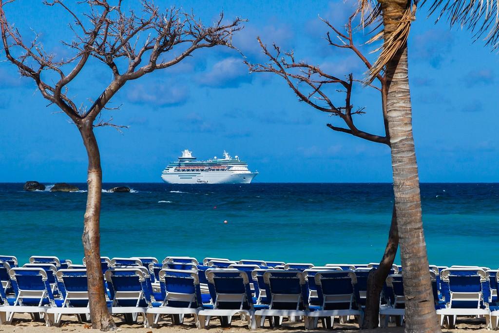 巴哈马大马镫礁(Great Stirrup Cay),海边美景_图1-2
