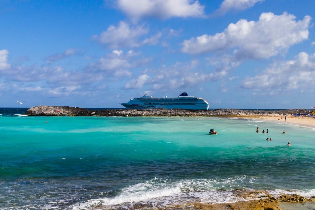 巴哈马大马镫礁(Great Stirrup Cay),海边美景_图1-4
