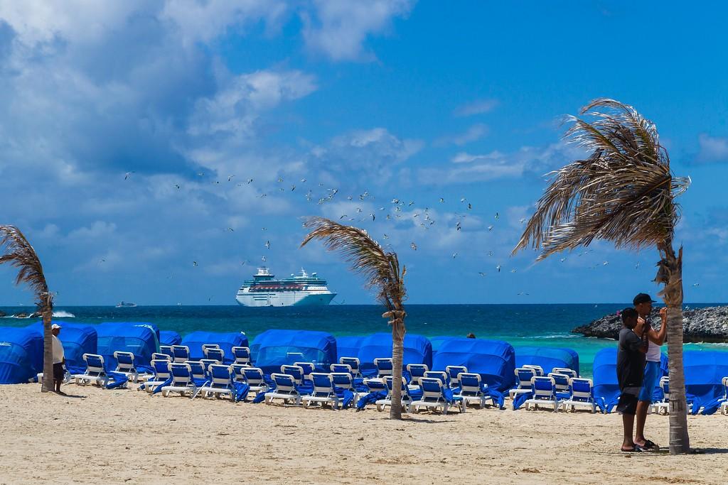 巴哈马大马镫礁(Great Stirrup Cay),海边美景_图1-8