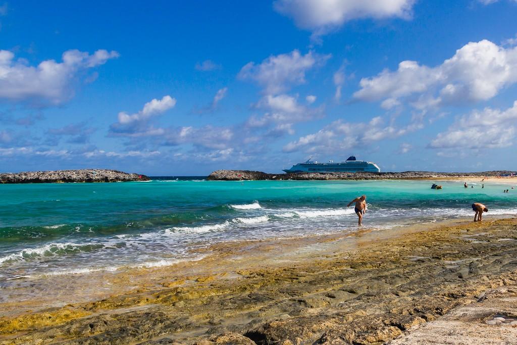 巴哈马大马镫礁(Great Stirrup Cay),海边美景_图1-7