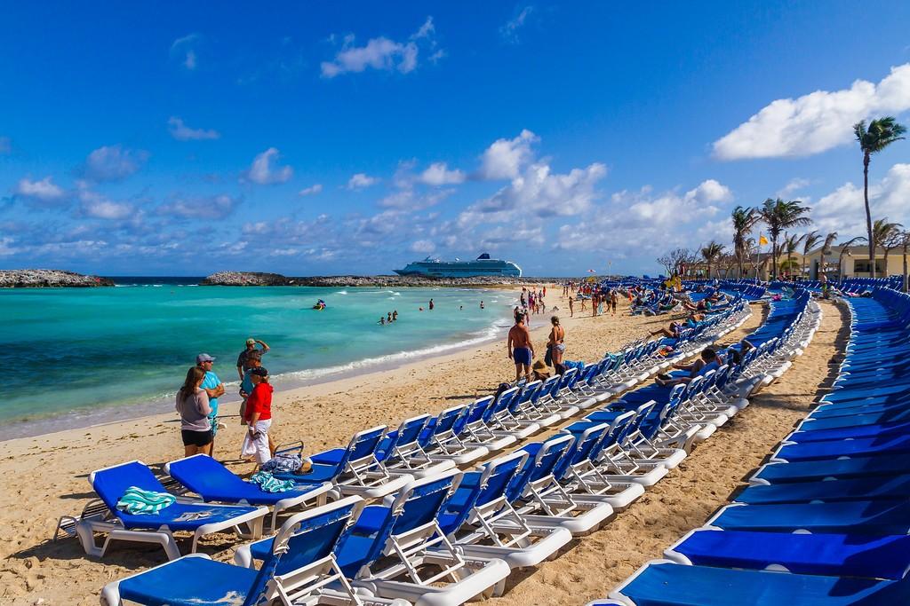 巴哈马大马镫礁(Great Stirrup Cay),海边美景_图1-17