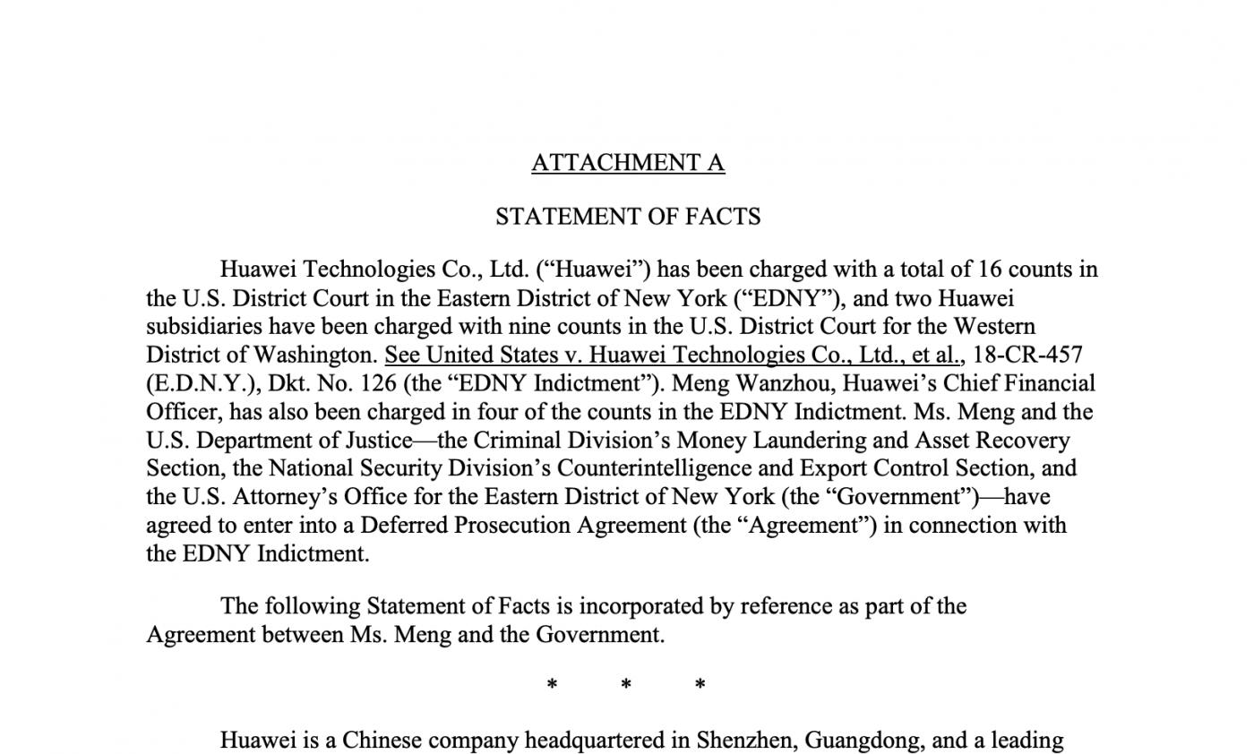 全文阅读美国司法部与孟晚舟的协议_图1-3