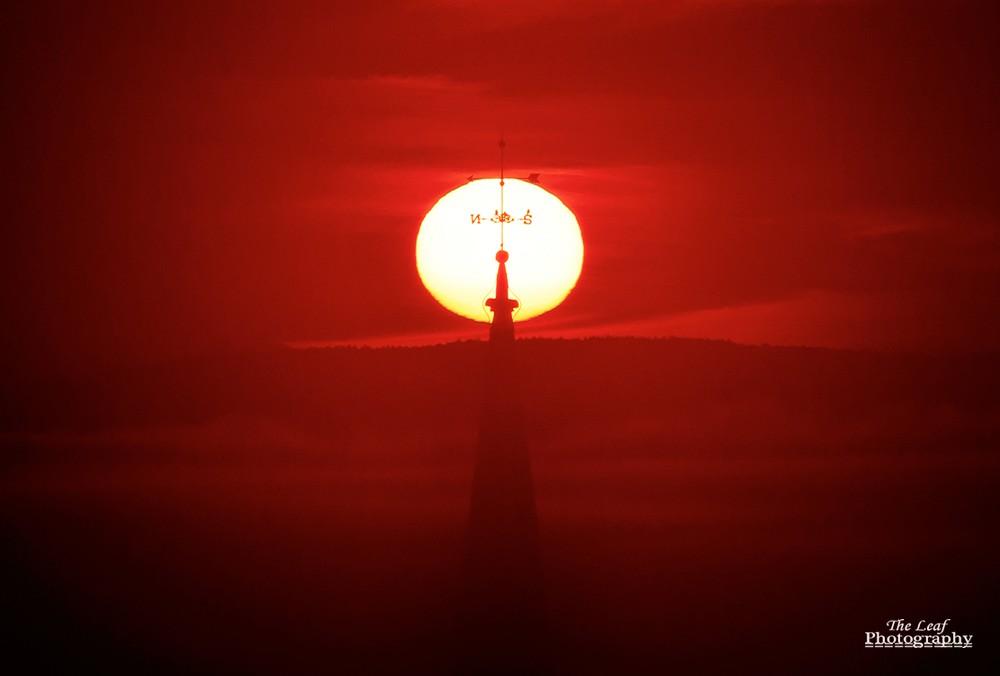 peacharm church Sun Rise 佛蒙特州日出和雾海 10-08-2021_图1-8